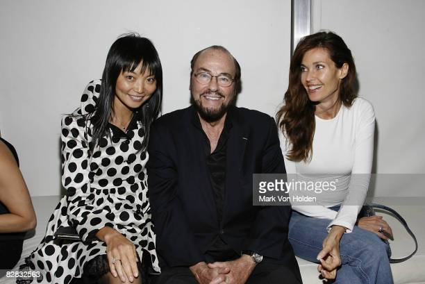 Model Irina Pantaeva TV personality James Lipton and model Carol Alt attend the after party for Ghost Town at the Soho Grand Hotel on September 15...