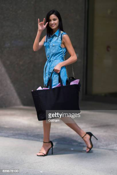 Model Irina Sharipova is seen going to fittings for the 2017 Victoria's Secret Fashion Show in Midtown on August 26 2017 in New York City