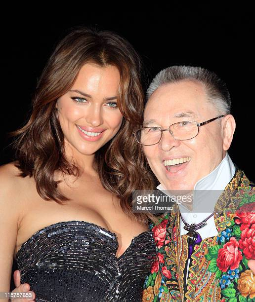 Model Irina Shayk and designer Slava Zaitsev attend the 9th annual Russian Heritage Festival at The Metropolitan Museum of Art on June 9 2011 in New...