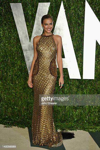 Model Irina Shayk arrives at the 2012 Vanity Fair Oscar Party Hosted By Graydon Carter held at Sunset Tower on February 26 2012 in West Hollywood...