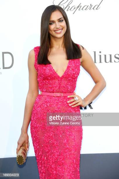 Model Irina Shayk attends amfAR's 20th Annual Cinema Against AIDS during The 66th Annual Cannes Film Festival at Hotel du CapEdenRoc on May 23 2013...
