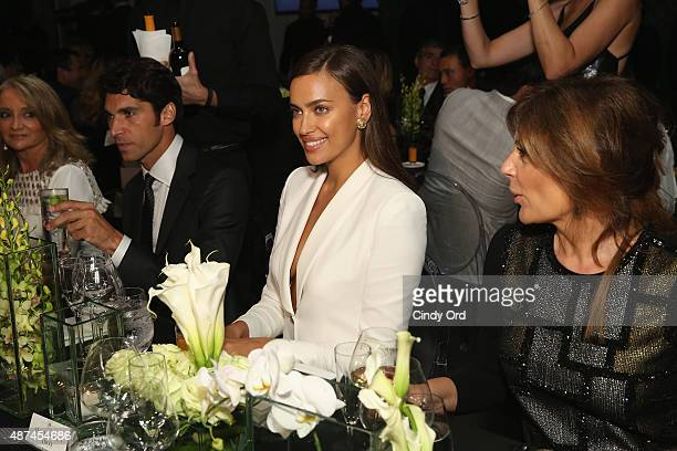 Model Irina Shayk attends Madison Square Park Conservancy's Fall Fundraising Gala in partnership with the grand opening of Porcelanosa's flagship...