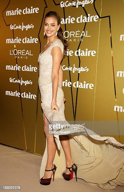 Model Irina Shayk attends Marie Claire Prix de la Moda awards 2011 at French Embasy on November 17 2011 in Madrid Spain