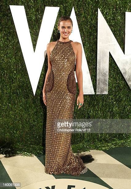 Model Irina Shayk attends the 2012 Vanity Fair Oscar Party Hosted By Graydon Carter at Sunset Tower on February 26 2012 in West Hollywood California