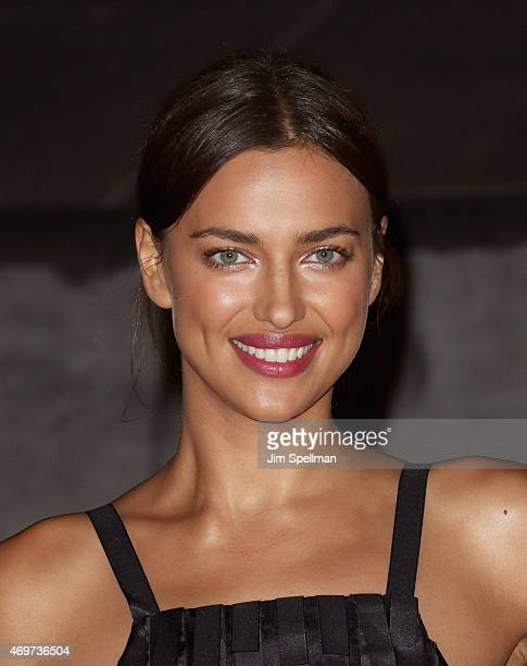 Model Irina Shayk attends the 2015 Tribeca Film Festival Vanity Fair Party at State Supreme Courthouse on April 14 2015 in New York City