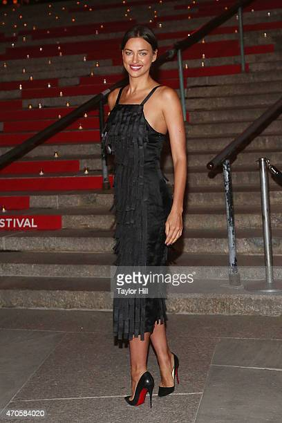 Model Irina Shayk attends the 2015 Tribeca Film Festival Vanity Fair Party at the New York Supreme Court on April 14 2015 in New York City