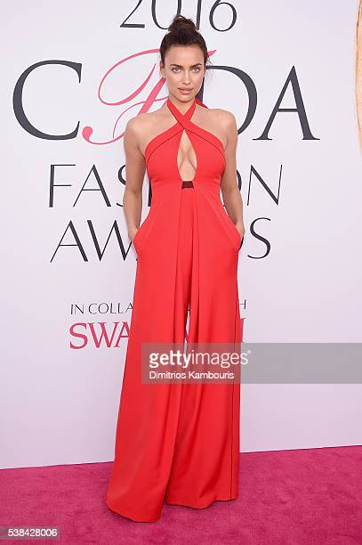 Model Irina Shayk attends the 2016 CFDA Fashion Awards at the Hammerstein Ballroom on June 6 2016 in New York City