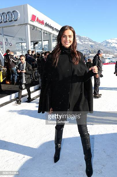 Model Irina Shayk attends the Audi driving experience during the Audi Hahnenkamm race weekend on January 22 2016 in Kitzbuehel Austria