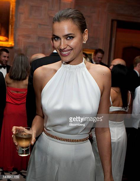 Model Irina Shayk attends the Bloomberg Vanity Fair White House Correspondents' Association dinner afterparty in Washington DC US on Saturday April...