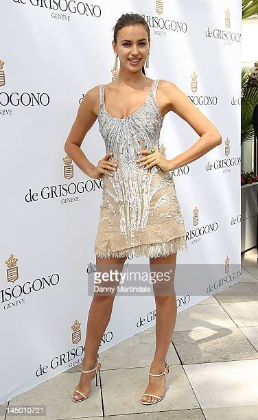 Model Irina Shayk attends the de Grisogono Photocall at Martinez Hotel on May 22 2012 in Cannes France