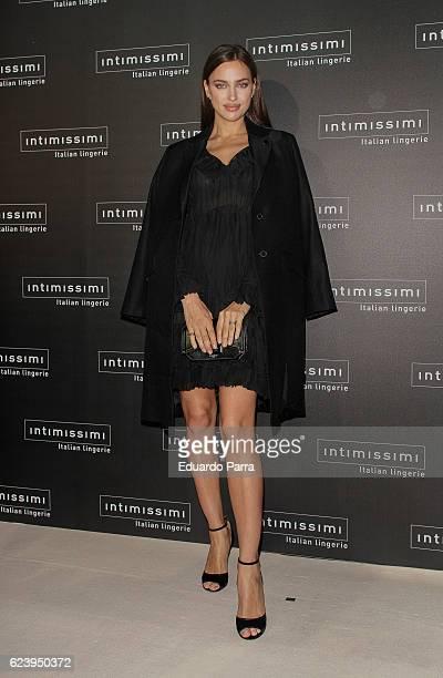 Model Irina Shayk attends the 'Intimissimi 20 years anniversary' photocall at Italian embassy in Spain on November 17 2016 in Madrid Spain