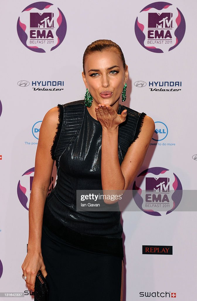 Model Irina Shayk attends the MTV Europe Music Awards 2011 at the Odyssey Arena on November 6, 2011 in Belfast, Northern Ireland.
