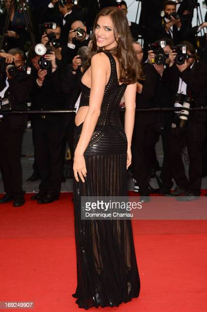 Model Irina Shayk attends the Premiere of 'All Is Lost' during The 66th Annual Cannes Film Festival at the Palais des Festivals on May 22 2013 in...