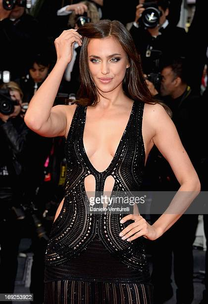 Model Irina Shayk attends the Premiere of 'All Is Lost' during The 66th Annual Cannes Film Festival at the Palais des Festivals on May 22, 2013 in...