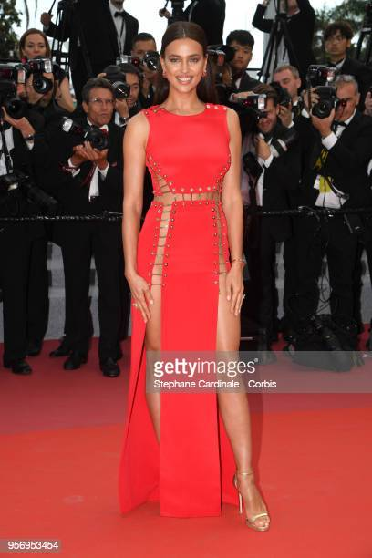 """Model Irina Shayk attends the screening of """"Sorry Angel """" during the 71st annual Cannes Film Festival at Palais des Festivals on May 10, 2018 in..."""
