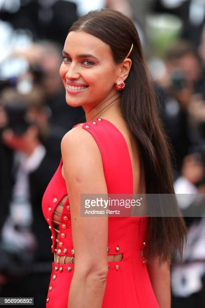 Model Irina Shayk attends the screening of Sorry Angel during the 71st annual Cannes Film Festival at Palais des Festivals on May 10 2018 in Cannes...