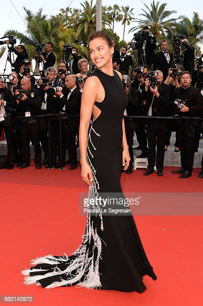 Model Irina Shayk attends 'The Unknown Girl ' Premiere during the 69th annual Cannes Film Festival at the Palais des Festivals on May 18 2016 in...