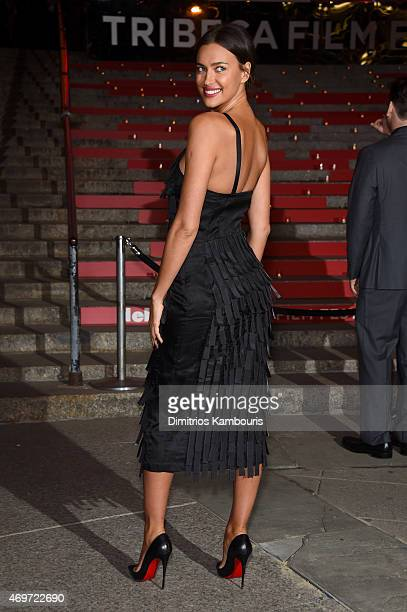 Model Irina Shayk attends the Vanity Fair Party during the 2015 Tribeca Film Festival at the New York State Supreme Court Building on April 14 2015...