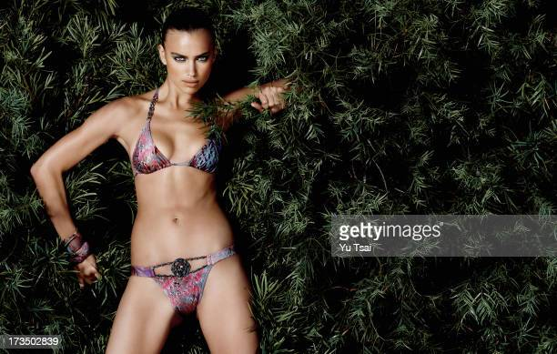 Model Irina Shayk is photographed for Beach Bunny on July 6 2009 in Los Angeles California PUBLISHED IMAGE