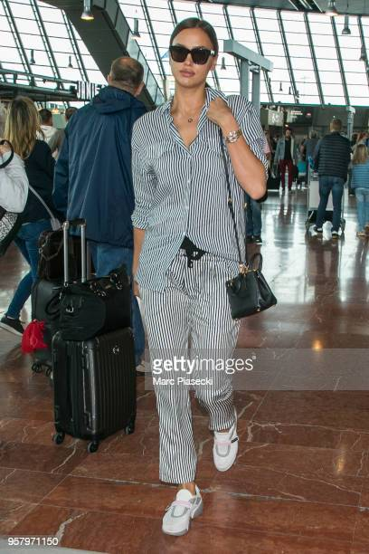Model Irina Shayk is seen during the 71st annual Cannes Film Festival at Nice Airport on May 13 2018 in Nice France