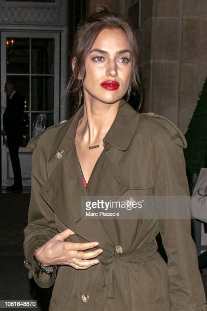 Model Irina Shayk is seen on December 12 2018 in Paris France