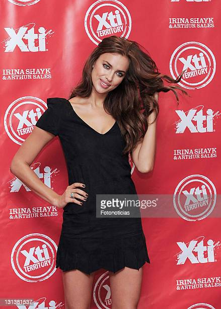 Model Irina Shayk launches the new 'Xti' shoes new Spring-Summer 2012 collection at the Hospes Hotel on November 4, 2011 in Madrid, Spain.