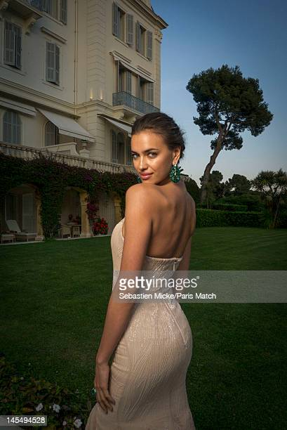 Model Irina Shayk, photographed at the amfAR Cinema Against AIDS gala, for Paris Match on May 24 in Cap d'Antibes, France.