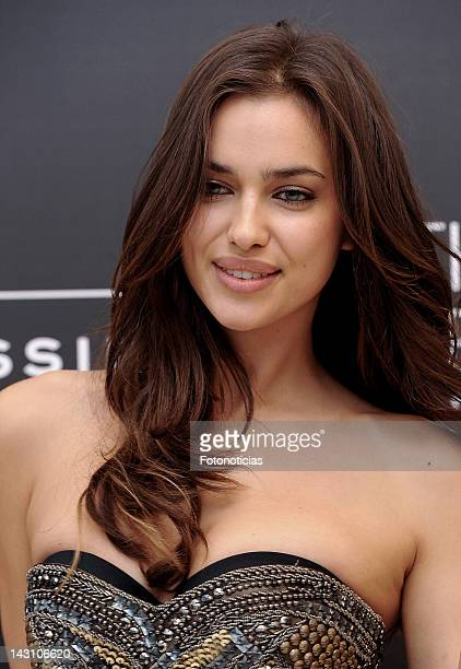 Model Irina Shayk presentes the 'Perfect Bra Book' at Intimissimi boutique on April 19 2012 in Madrid Spain