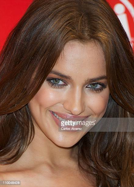"""Model Irina Shayk presents the new collection """"Xti 2011-12"""" on March 14, 2011 in Madrid, Spain."""