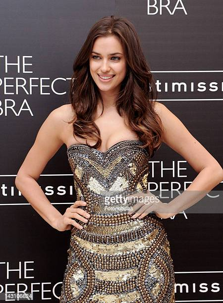 Model Irina Shayk presents the 'Perfect Bra Book' at Intimissimi boutique on April 19 2012 in Madrid Spain