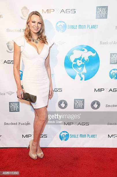 Model Irina Voronina arrives at Single Mom Planet Jazz Celebration at HOME Jazz and Supper Club on November 12 2014 in Beverly Hills California