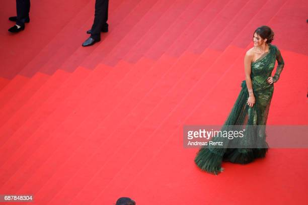 Model Iris Mittenaere attends the 'The Beguiled' screening during the 70th annual Cannes Film Festival at Palais des Festivals on May 24 2017 in...