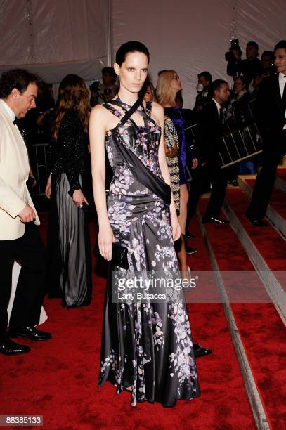 Model Iris Strubegger attends The Model as Muse Embodying Fashion Costume Institute Gala at The Metropolitan Museum of Art on May 4 2009 in New York...