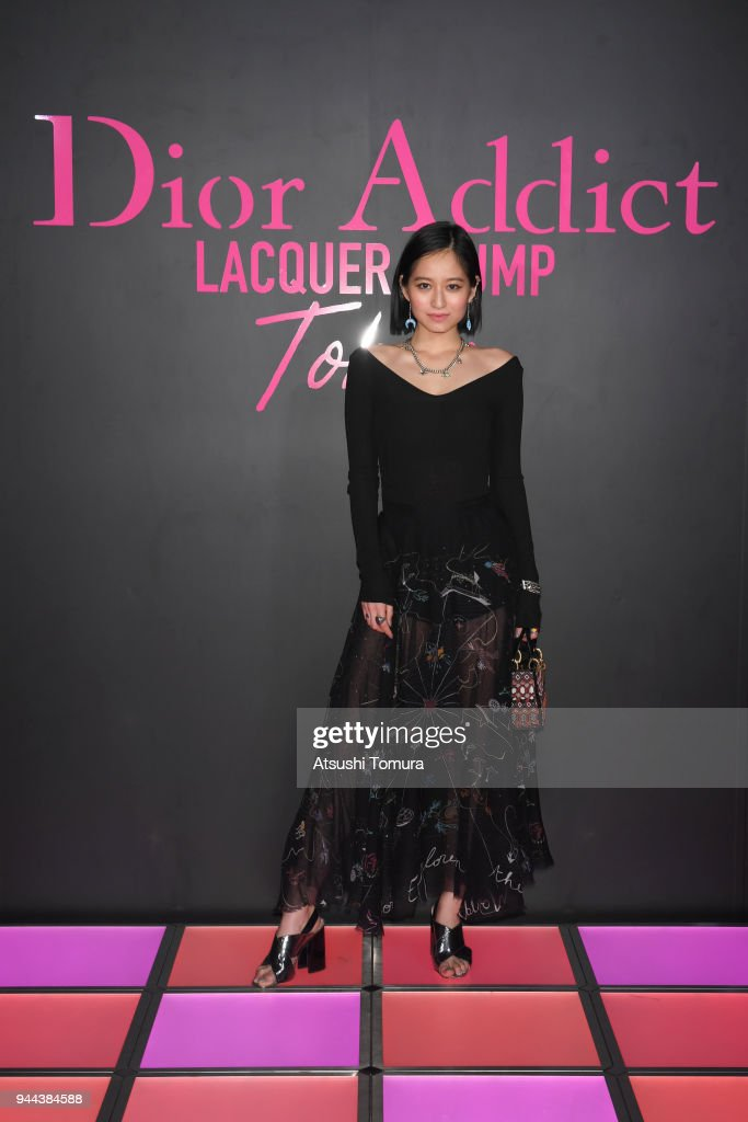 Model Iruka attends the Dior Addict Lacquer Plump Party at 1 OAK on April 10, 2018 in Tokyo, Japan.