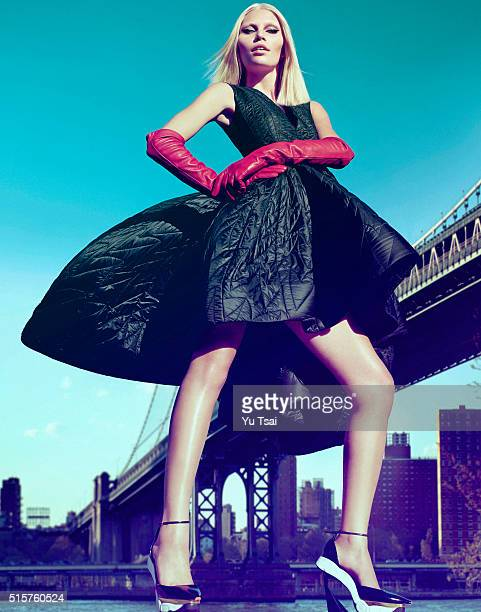 Model is photographed for a fashion editorial for Harpers Bazaar Singapore on May 5 2014 in New York City Cover Image