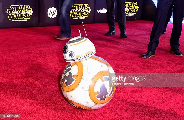 BB8 model is seen at the premiere of Walt Disney Pictures and Lucasfilm's Star Wars The Force Awakens at the Dolby Theatre on December 14th 2015 in...