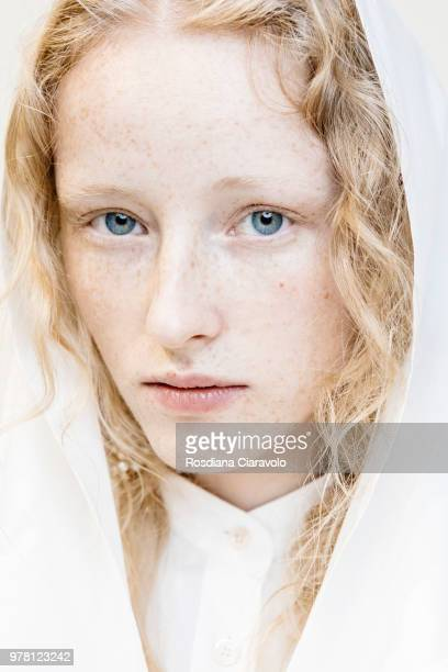 A model is seen backstage ahead of the Aalto show during Milan Men's Fashion Week Spring/Summer 2019 on June 18 2018 in Milan Italy