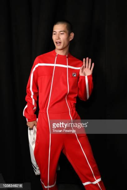 Veronica Ferraro is seen backstage ahead of the Fila show during Milan Fashion Week Spring/Summer 2019 on September 23 2018 in Milan Italy