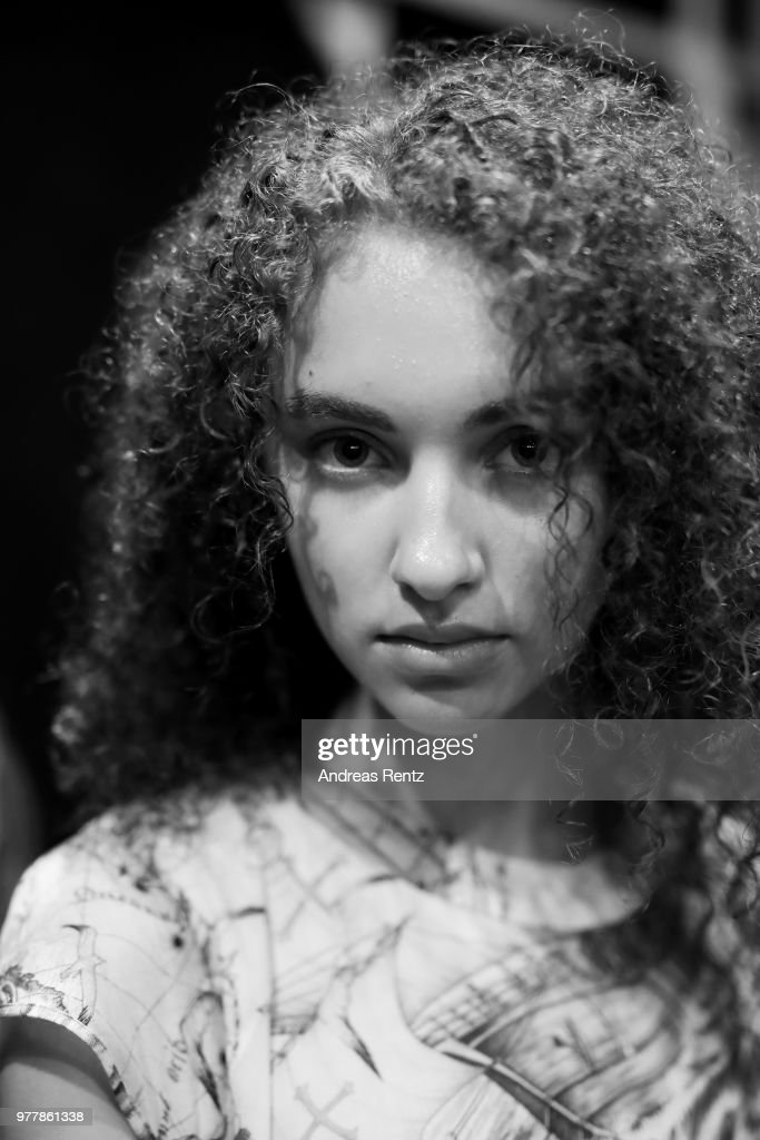 A Model Is Seen Backstage Ahead Of The Hunting World Show During