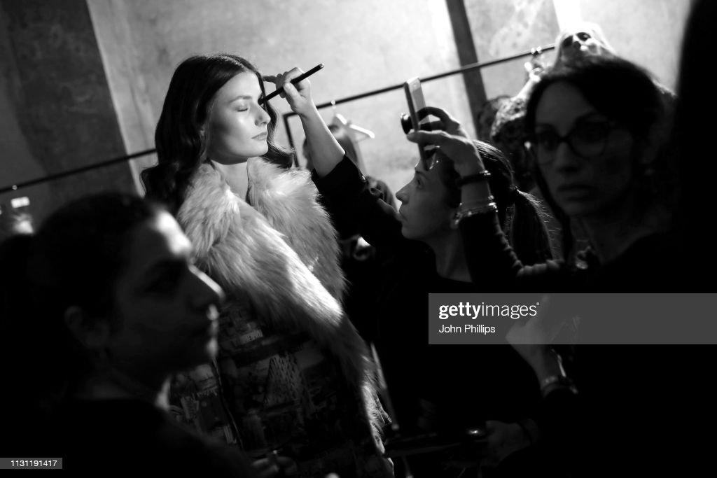 ITA: Marco Rambaldi Supported By CNMI e CNMI Fashion Trust - Backstage: Milan Fashion Week Autumn/Winter 2019/20