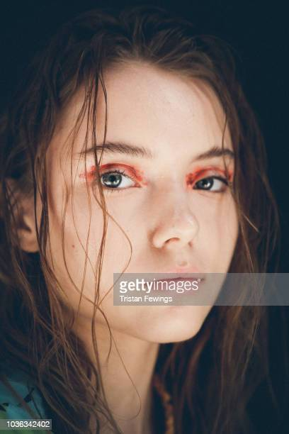Model is seen backstage ahead of the Tiziano Guardini show during Milan Fashion Week Spring/Summer 2019 on September 20, 2018 in Milan, Italy.