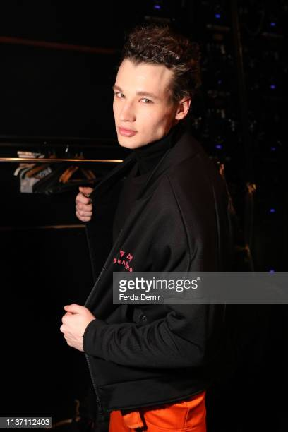 A model is seen backstage ahead the Brand Who show during MercedesBenz Istanbul Fashion Week at the Zorlu Performance Hall on March 20 2019 in...