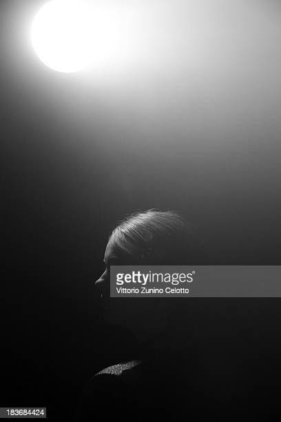 A model is seen backstage at the Asu Aksu show during MercedesBenz Fashion Week Istanbul s/s 2014 presented by American Express on October 8 2013 in...