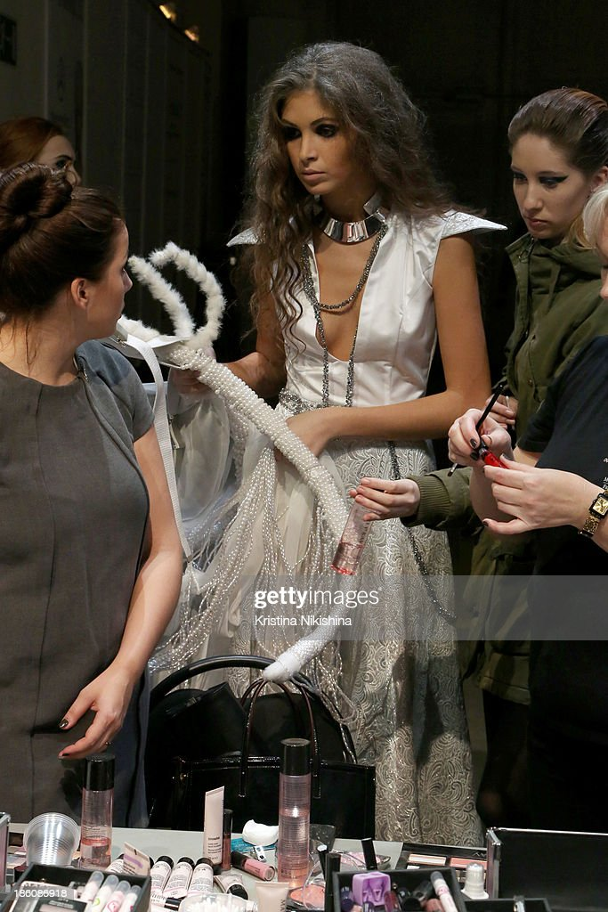 A Model Is Seen Backstage At The Best Collections Of Bhsad Fashion News Photo Getty Images