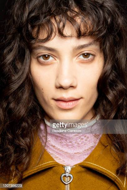 A model is seen backstage at the Marco Rambaldi fashion show on February 19 2020 in Milan Italy