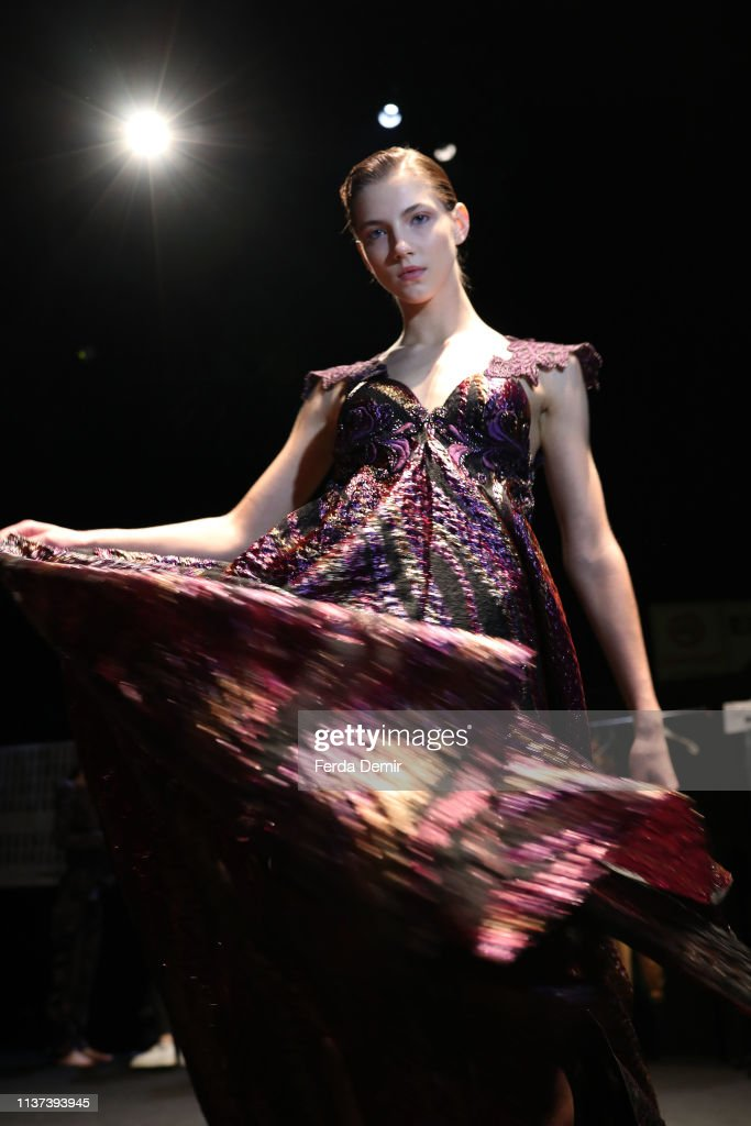 A Model Is Seen Backstage At The Ozlem Suer Show During Mercedes