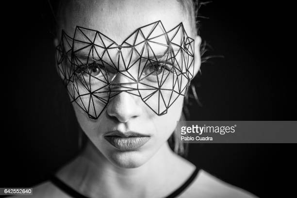 Model is seen backstage before the Maya Hansen fashion show during the Mercedes-Benz Fashion Week Madrid Autumn/ Winter 2017 at Ifema on February 17,...
