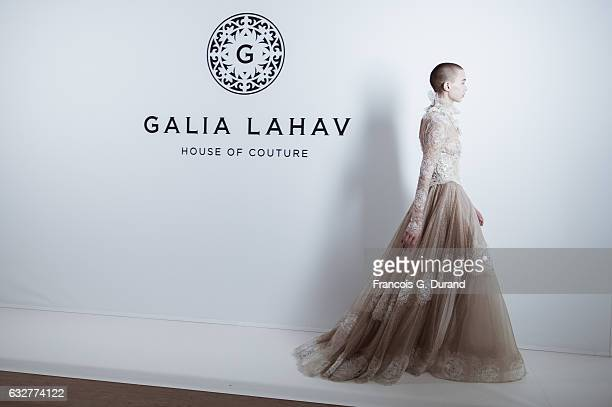 A model is seen Backstage prior the Galia Lahav Fashion Week on January 26 2017 in Paris France