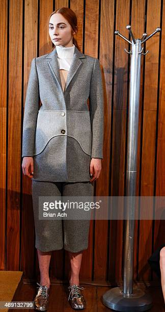 A model is seen during the Chris Gelinas Presentation MADE Fashion Week Fall 2014 at The Standard Hotel on February 7 2014 in New York City