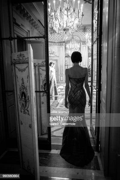 Model is seen during the Rami Al Ali Haute Couture Fall Winter 2018/2019 presentation as part of Paris Fashion Week on July 3, 2018 in Paris, France.